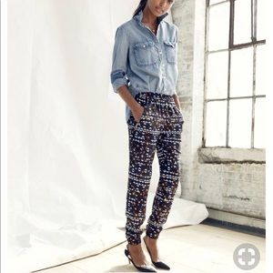 J Crew Turner Pant Dark Hidden Floral Jogger Pants